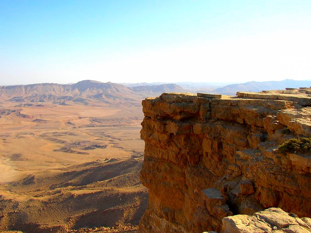 View from the Mitzpeh Ramon crater