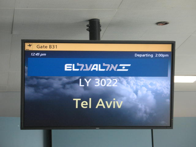 Aliyah flight to Tel Aviv