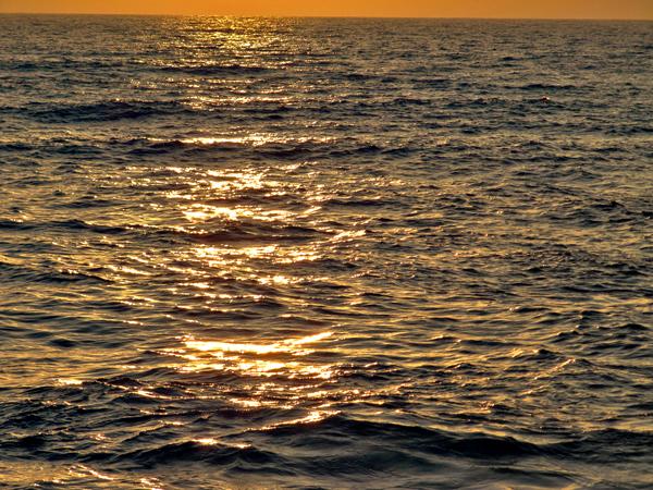 Tel Aviv port sunset