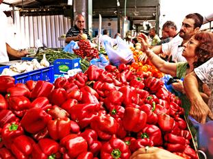 Schunat HaTikva market, Tel Aviv