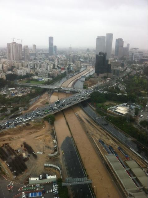Flooded Tel Aviv