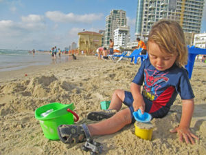 Tel Aviv beach with kids