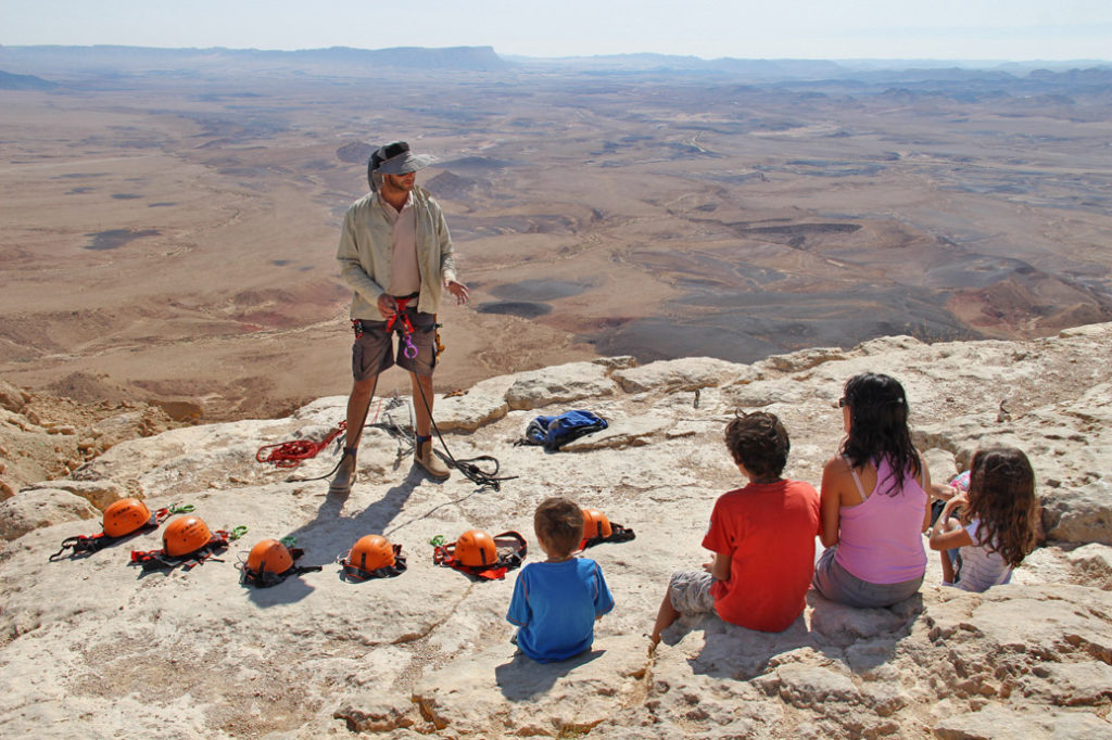 abseiling the ramon crater