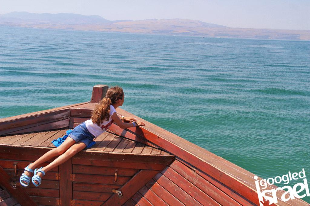 Susita sailing on the Kinneret
