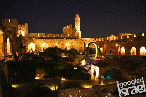 Tower of David Night